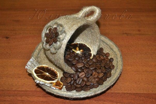Деревья поделки из кофейных зерен