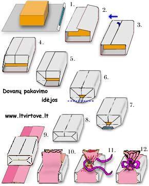 Как запаковать подарок в подарочную 753