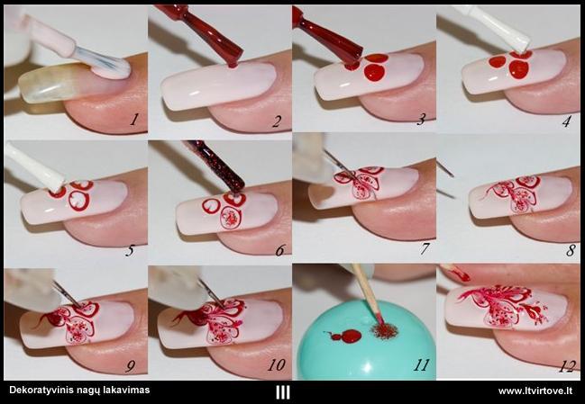 Как сделать рисунок на ногти своими руками