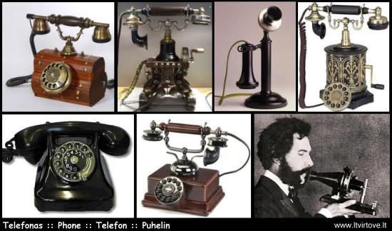 Kada atsirado telefonas