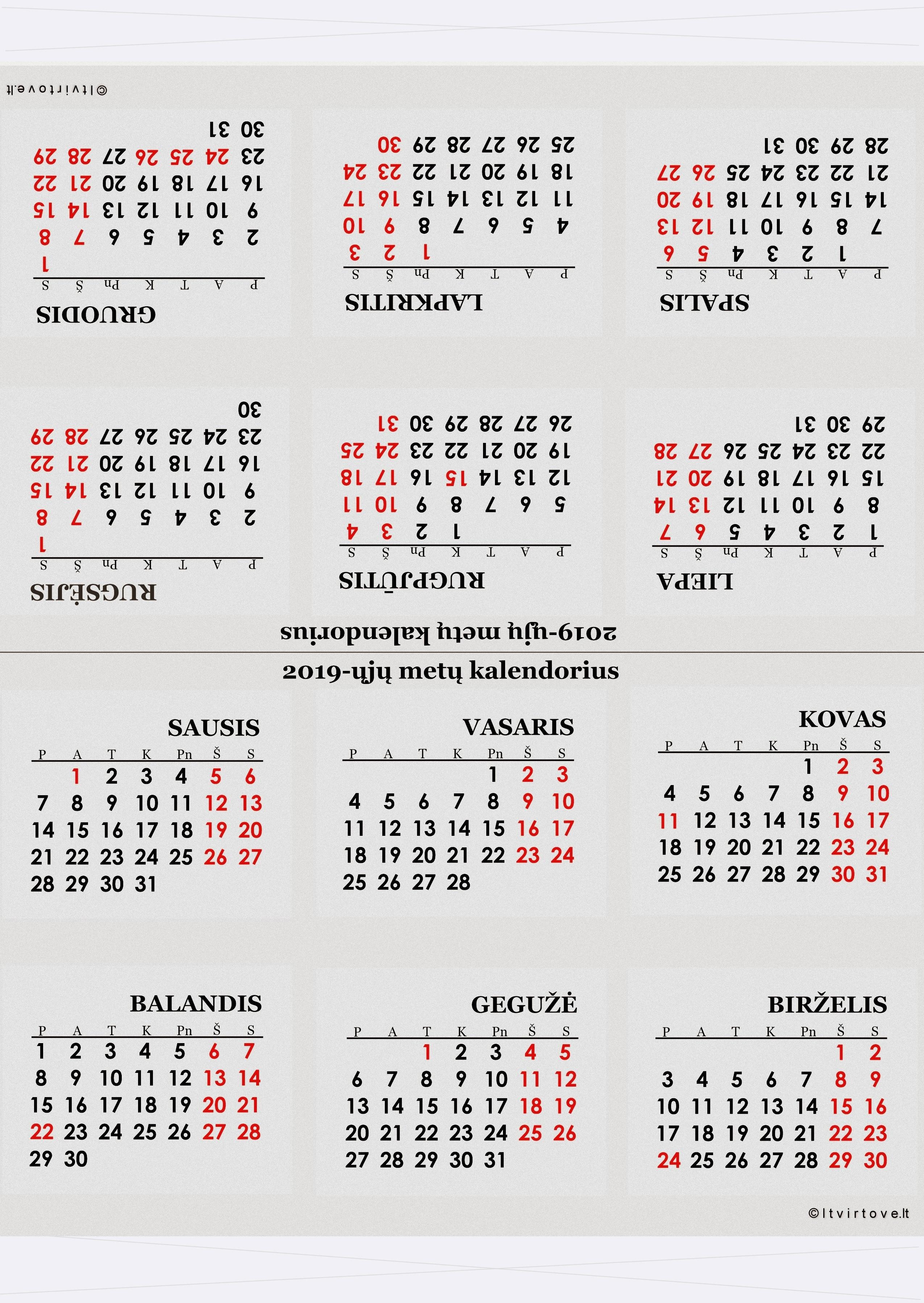 2020 Kalendorius Su Savaitemis.Kalendoriai 2019 Iesiems Metams Trikampio Formos
