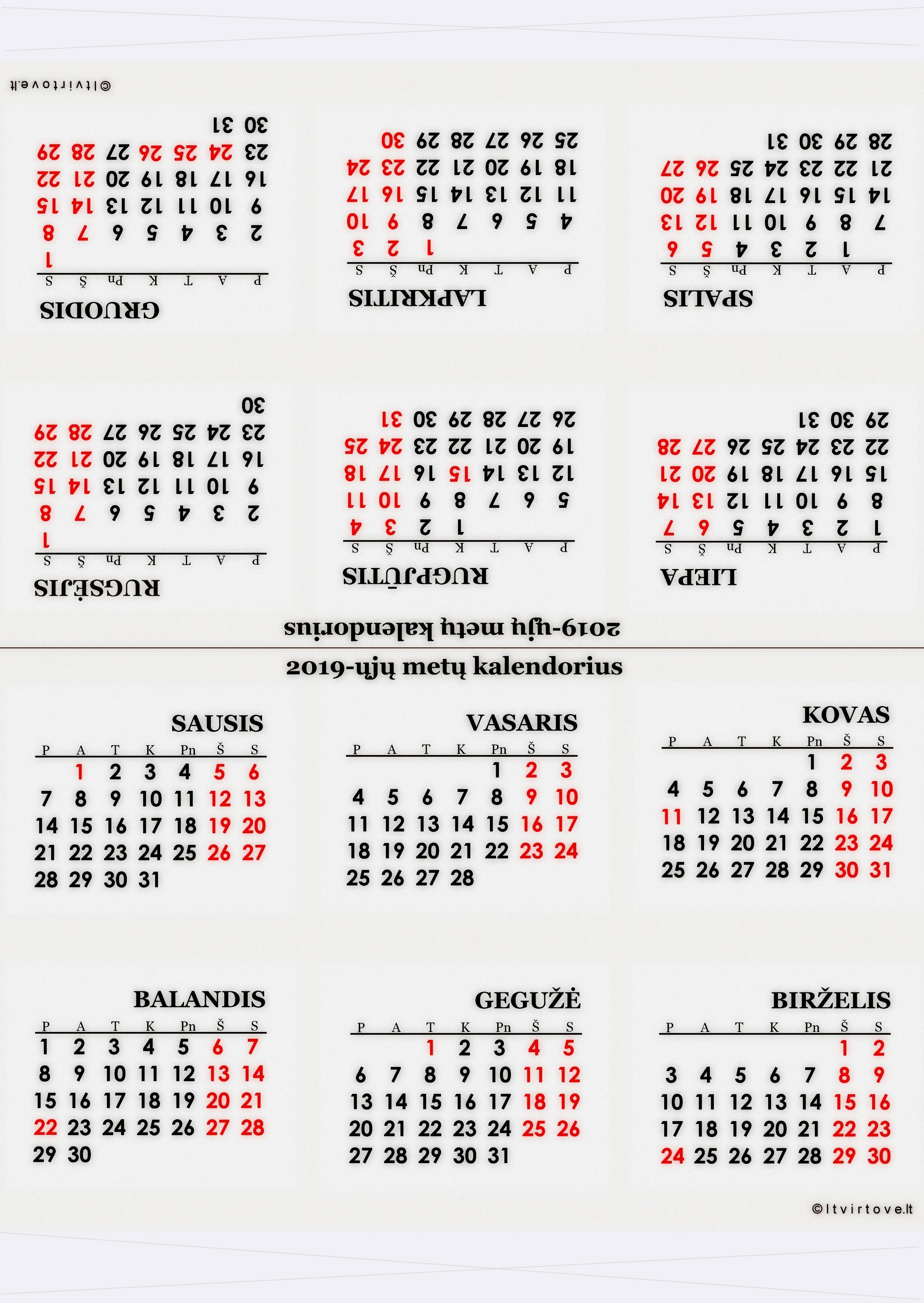 2020 Kalendorius.Kalendoriai 2019 Iesiems Metams Trikampio Formos